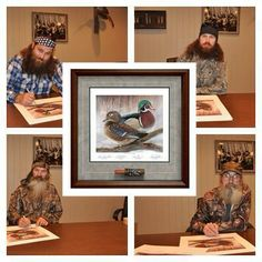 Artist's proof with all four signatures and handpainted duck call, only 300 worldwide