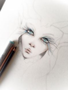 #betta eyes #moleskine #pastel #pencil