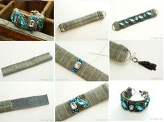 How to make Beautiful Handmade Wristband step by step DIY tutorial instructions, How to, how to do, diy instructions, crafts, do it yourself, diy website, art project ideas