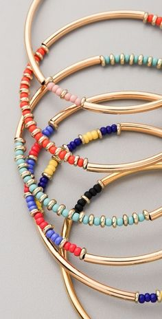 Party Bangles by #Vanessa Mooney $30 each www.brianarene.com
