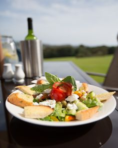 Al fresco dining on the cliff-tops near Tenby, Pembrokeshire