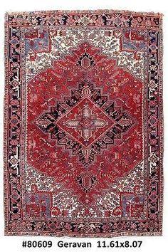 Handmade Rug 8x12 Persian Heriz Haris Carpet