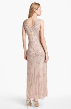 Pisarro Nights V-Neck Beaded Sequin Gown (Regular & Petite) Youre Cute, Bride Groom Dress, Sequin Gown, Drop Waist, Nordstrom, Sequins, Wedding Dresses, Wedding Outfits, V Neck
