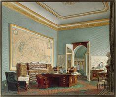 Le Cabinet de travail de l'empereur Napoléon III, aux Tuileries, Jean-Baptiste Fortuné de Fournier