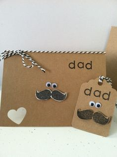 Happy Fathers Day Mustache silly card or by JustSimplyHandmade, $3.95