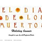 A beautiful Day of the Dead banner to print and use to decorate your classroom for this Mexican holiday.  Can be used to make a pendant banner or t...