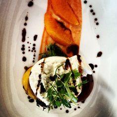 It tasted even better. Burrata, heirloom tomatoes, arugala & peach balsamic reduction. - @weddingtidbits- #webstagram