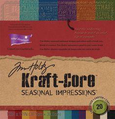 Kraft-Core - Seasonal Impressions Cardstock