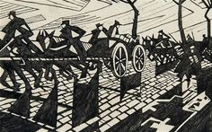 'On the Road to Ypres' by Christopher Nevinson: Lost work by renowned First World War artists come to light World War One, First World, Ww1 Art, First Art, Gravure, Wwi, Art Google, Printmaking, Comic Art