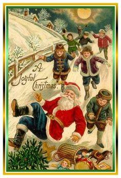 .That's it...knock Santa down and grab the goodies! -- TMG
