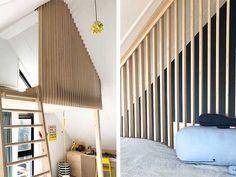 Dream Bedroom, Kids Bedroom, Plywood Wall Paneling, Mezzanine Bed, Attic Bed, Cool Kids Rooms, Teenage Room, Kid Spaces, New Room