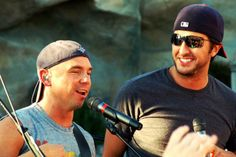 The two loves of my life.. <3 Kenny Chesney and Luke Bryan