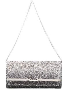 JIMMY CHOO Glitter Clutch. #jimmychoo #bags #polyester #leather #clutch #metallic #shoulder bags #hand bags #glitter #cotton #