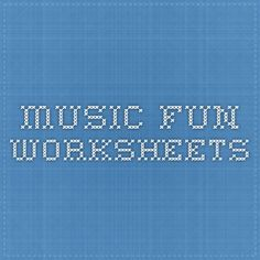 Music Fun Worksheets