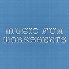 Music Fun Worksheets