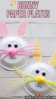 BUNNY PAPER PLATES 🐰 BUNNY PAPER PLATES 🐰  - such a cute Easter craft for kids! #bestideasforkids<br> A fun and simple Easter craft for kids! Learn how to make this easy paper plate Easter bunny craft. Kids will love making them! Kids Crafts, Bunny Crafts, Easter Crafts For Kids, Jar Crafts, Creative Crafts, Crafts To Do, Craft Projects, Craft Kids, Kids Diy