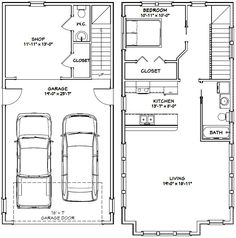 Garage Apartment Plan 85372 | Total Living Area: 1901 Sq. Ft., 2 Bedrooms  And 3 Bathrooms. #carriaghouse | Home Is Wear The Heart Is | Pinterest |  Garage ...