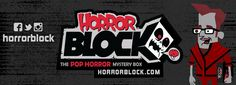 HORROR BLOCK from nerdblock.com 4 - 6 frighteningly fun collectibles, one hauntingly exclusive t-shirt delivered monthly 19.99/month!