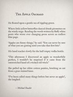 The Apple Orchard by Michael Faudet