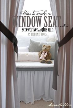 Dear Lillie: How to Build a Window Seat with a Screwdriver and Glue Gun - super simple!