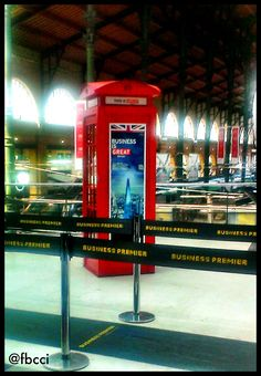 Doctor Who's new ride ? Classic red phonebox at the Gare du Nord.