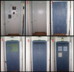 My son wants the TARDIS painted on his bedroom door. Now I have a pattern for it.