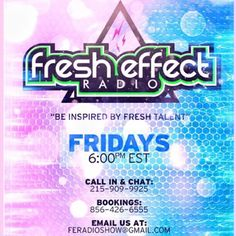 Tune in RIGHT NOW to @fresheffectradio on #DGRadio Click the link in the bio to download our app or check us out on #TuneIn #Fresh #Effect #Dope #Interviews #IndieArtists