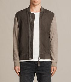 Tally Suede Bomber Jacket