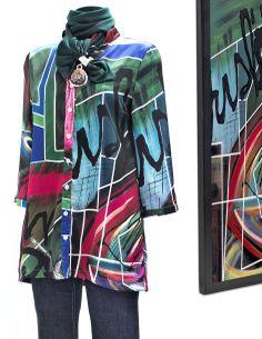 Blusón multicolor con carácter Vas hecha un cuadro by Maite Cobo. #bilbao #fashion #art