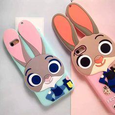 Coque insolite silicone forme de la lapin Judy dans le Zootopia pour iPhone 6s 6s plus sur www.jeuxciel.fr