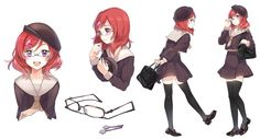 For all kinds of moe art. Especially cute anime girls and boys being cute. Content from anime, manga,. Character Poses, Character Design, Maki Nishikino, Love Live, Anime Girl Cute, Tsundere, Girl Short Hair, Anime Outfits, Vintage Girls