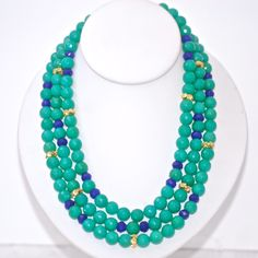 Faceted Green and Blue Jade Necklace