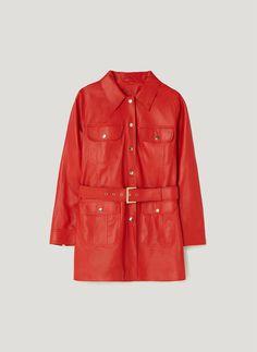 Uterqüe United Kingdom Product Page - Clothing - View all - Leather safari jacket - 185