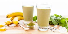 Need a little kick in your morning smoothie? Try swapping this nutrient dense banana matcha smoothie combo for your morning coffee!