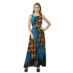 ZGandDD Flaming Peacock Feather Empire Waist Summer Boho Maxi Dress ** Special  product just for you. See it now! : Trendy plus size clothing Plus Size Maxi Dresses, Cheap Dresses, Plus Size Outfits, Trendy Plus Size Clothing, Plus Size Fashion, Homecoming Dresses, Bridesmaid Dresses, Dress Prom, Tank Dress