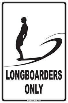 Longboarders Only Placa de lata na AllPosters.com.br