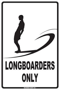 Longboarders Only Placa de lata na AllPosters.com.br
