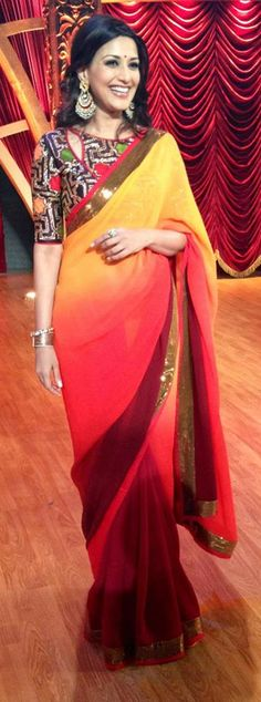Nachiket Barve Embellished blouse and simple, plain saree combo works wells  Follow - pinterest.com/rOKr6