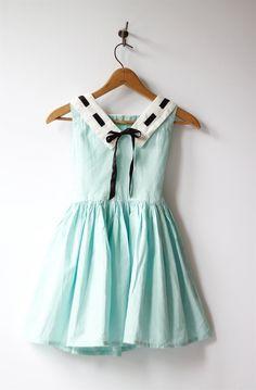 1950s vintage little girls mint gingham dress by roxandsam on Etsy