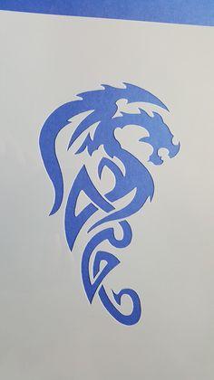 Popular Schablone Muster Drache Wandbilder Wandtattoo