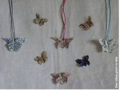 Papillon, origami, tissu