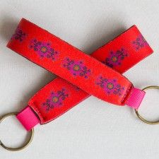 Red & Purple Neoprene Key Fob