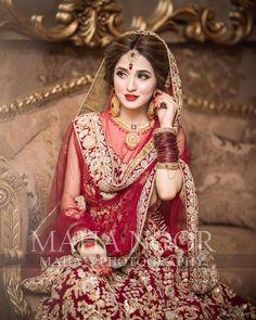 Maha Wajahat Khan - Bride of the day💕 Mua Asian Bridal Dresses, Bridal Mehndi Dresses, Pakistani Wedding Outfits, Bridal Dress Design, Pakistani Wedding Dresses, Bridal Outfits, Nikkah Dress, Lehnga Dress, Pakistani Bridal Hairstyles