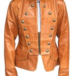 Arrow Handmade Women Military Style Leather Jacket – 8687687d – Arrow Shopping