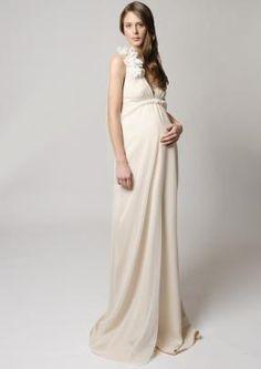 3c06eff4fc Empire V-neck Sweep Train Flower(s) Ribbons Chiffon Maternity Wedding Dress  2014 - Gardeniasite