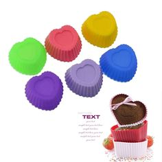 perfect 12 pcs Silicone Cake Cupcake Liner Baking Cup Mold  Muffin Round Cup Cake Tool Bakeware Baking Pastry Tools Kitchen
