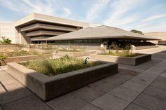 York University: Scott Library (background), Scott Religious Centre (foreground)
