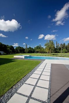 Lawn, Terrace, Outdoor Pool, Modern Retreat in Davie, Florida