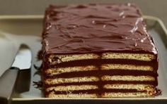 LU® Real Petit Beurre and Chocolate Cake; A super easy recipe to make with children! Greek Recipes, Raw Food Recipes, Dessert Recipes, Cheesecake Cake, Cheesecake Recipes, Chocolate Recipes, Chocolate Cake, German Baking, Greek Sweets