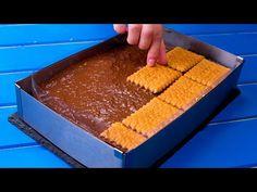 Prajitura de casa simpla cu care salvez orice sarbatoare! | SavurosTV - YouTube Flan, Jacque Pepin, Choux Pastry, No Cook Desserts, Cornbread, Caramel, Food And Drink, Pudding, Make It Yourself